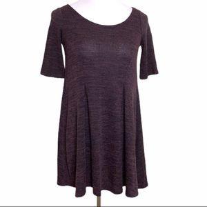 Cooperative Heathered Purple/Black Swing Dress